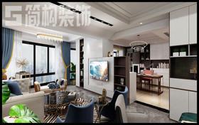 長江之歌180平現代簡約風格裝修設計案例裝修設計案例