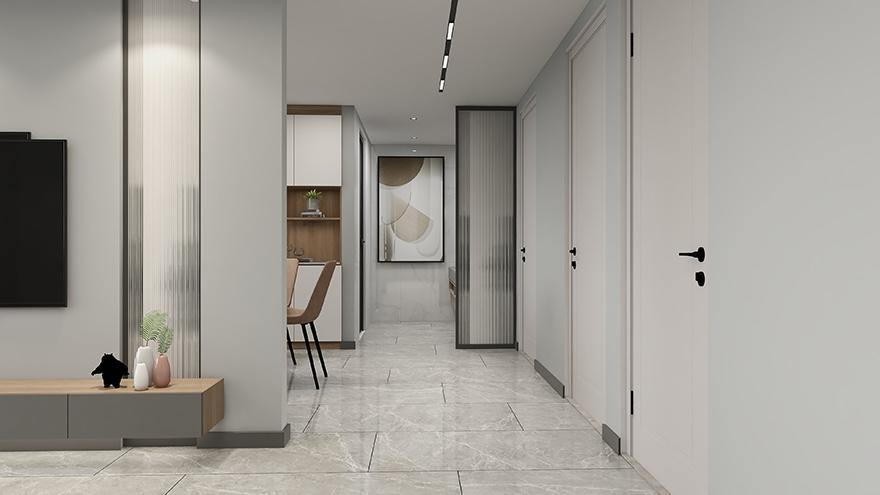 税务局宿舍楼现代简约装修效果图