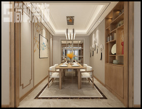 偉星城120平新中式風格裝修設計案例裝修設計案例