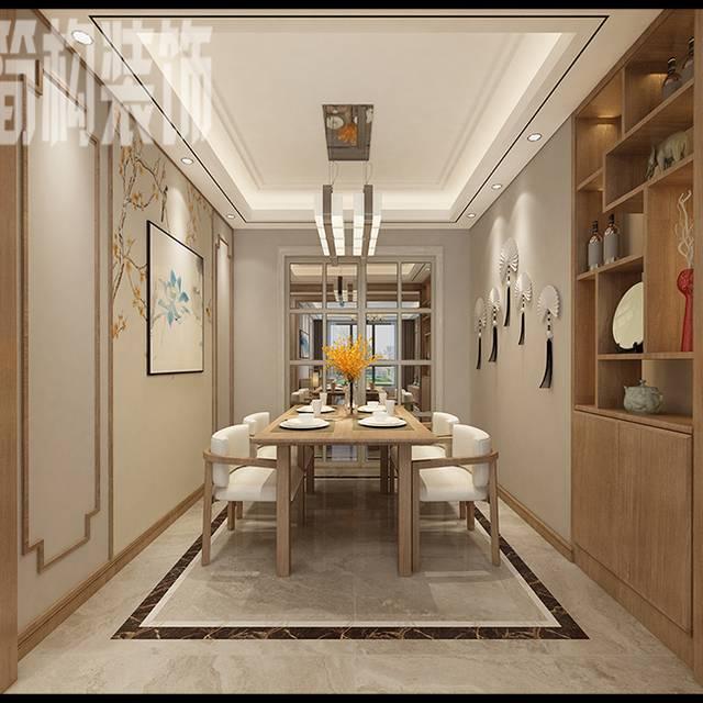 伟星城120平新中式风格装修设...120㎡普通户型中式风格装修案例