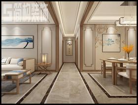 奧韻康城130平新中式風格裝修設計案例裝修設計案例