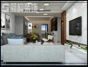 中央城130平現代簡約風格裝修設計案例裝修設計案例