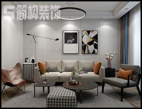 信德悅城98平現代簡約風格裝修設計案例裝修設計案例