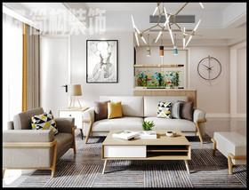 柏莊麗城120平北歐風格裝修設計案例裝修設計案例