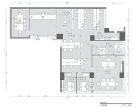深圳京基御景時代大廈南區2408辦公室裝修設計案例