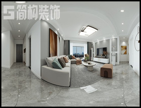 新華聯120平現代簡約裝修設計案例裝修設計案例