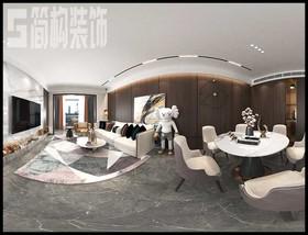 信德悅城100平現代簡約裝修設計案例裝修設計案例