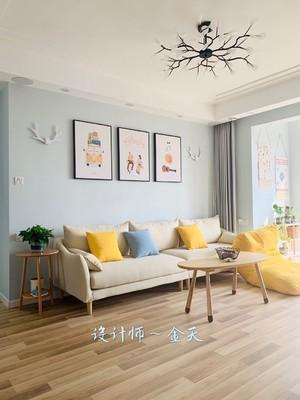 武汉92㎡田园风格装修效果图