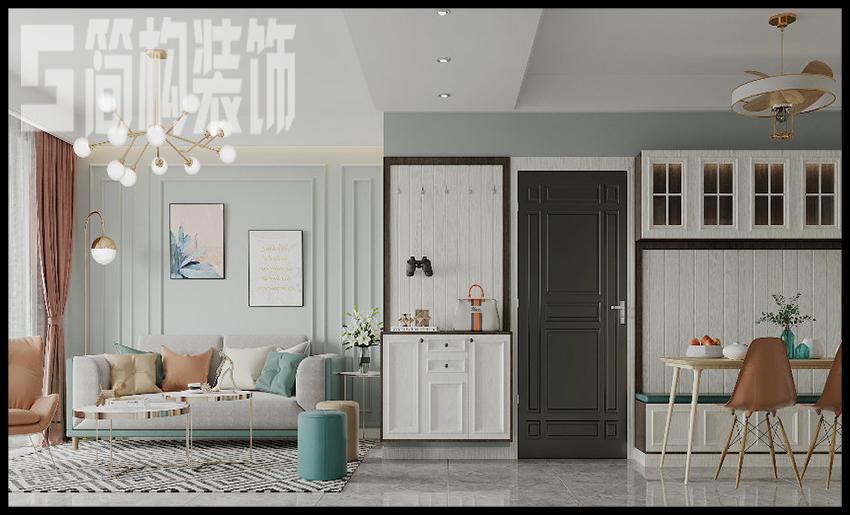 金暉羅蘭小鎮140平現代簡約裝修設計案例裝修案例
