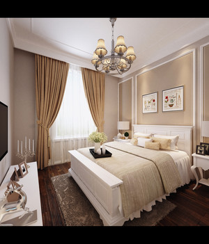 天津165㎡美式风格装修效果图
