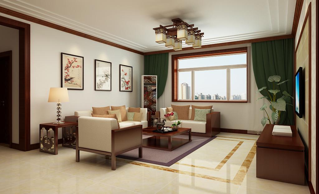 东城国际中式风格装修效果图