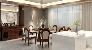 武汉268㎡中式风格装修效果图