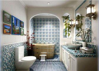 地中海风格浴室装修技巧 打造浪漫沐浴空间