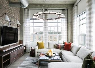 185平复古工业风温馨装修效果图 高端室内家具装修案例