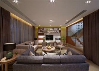 南安138平3居室装修效果图 书房像个博物馆
