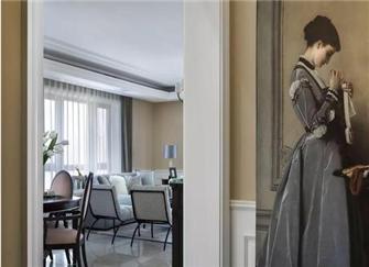 145㎡新美式三室两厅装修案例 华丽而不张扬的轻奢主义感