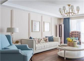 三室两厅简美风装修案例分享  满足你对美式风的想象