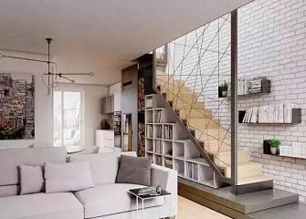 loft楼梯收纳装修设计 小复式楼梯收纳设计