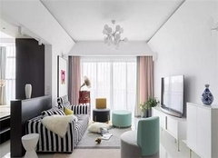 105平米三居室混搭风装修效果展示 35万拥有一个绚丽多彩的家