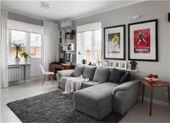 60平小户型公寓装修效果图  她家中了黑白灰的魔法