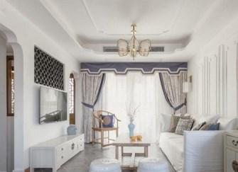 南平新中式装修效果图鉴赏 120平3居室新中式爱家