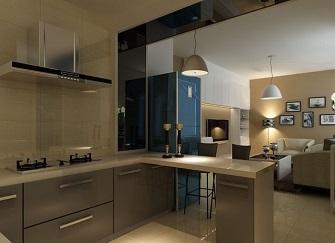 半开放式厨房玻璃隔断怎么样?开放式厨房装修注意问题
