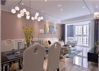 怀远东方新天地130平米三室两厅装修设计案例