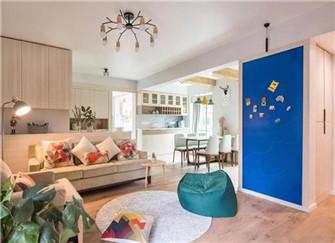 莱芜皇庭港湾95平米两室两厅装修设计案例