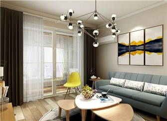 泗阳泗水品园三居室北欧风装修案例分享