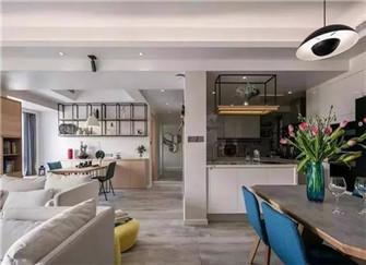 昆山光大花园88平米装修案例 北欧风格的两室两厅装修设计