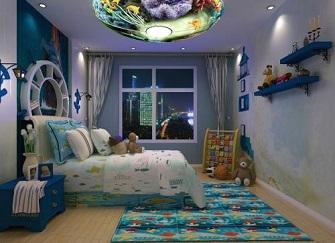 长兴绿城玉兰花园两居室装修设计效果图