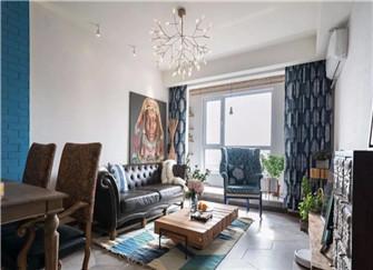 平度90平米装修设计案例 有特色的混搭风两居室装修