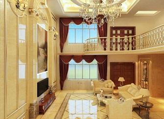 唐山万科红郡别墅350平米美式风格装修案例