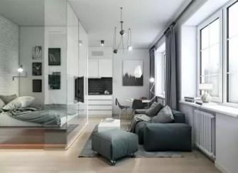 小戶型裝修省空間設計 小戶型空間玻璃巧隔斷