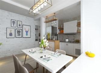 石河子120平米三居室北欧风格装修案例