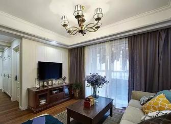 南安小三室装修案例 90平米美式混搭小三室
