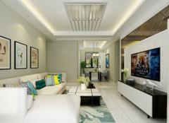 武清远洋香奈装修案例 105平三居室8万元全包装修效果图