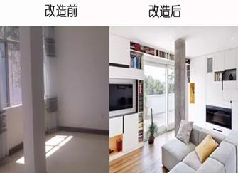 焦作旧房改造策略 焦作75平小两居改造案例