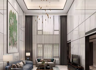 烟台别墅整体装修效果图 600㎡现代轻奢风格别墅装修