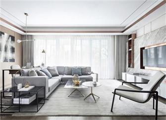 淄博别墅装修效果图 她家200平现代风很时尚