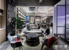 无锡办公室装修样板房 办公室工业风装修效果图