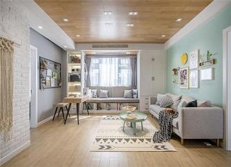 常州美林湖水岸枫情怎么样 94平米16万装修两室两厅案例