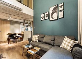福州loft公寓装修效果图 富力中心85平米设计两居室太舒服了