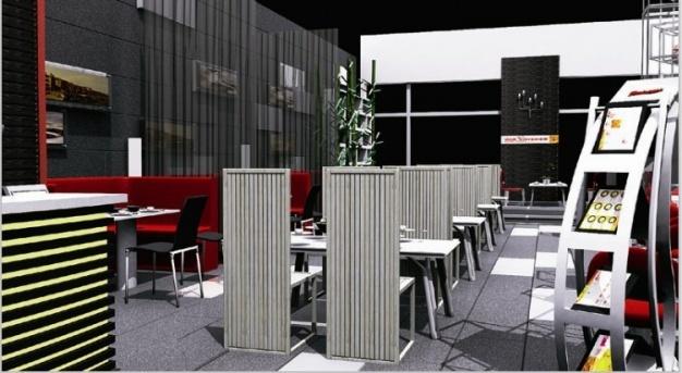 餐厅现代简约装修效果图