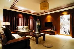 杭州105㎡中式风格装修效果图
