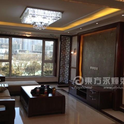 中式现代-天洋城4代-90平两居中式