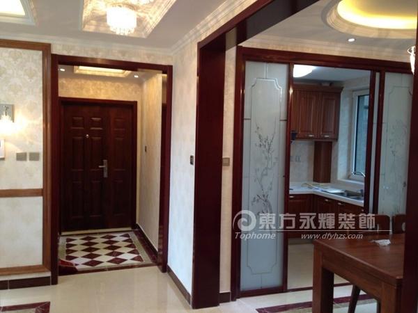 天洋城4代-90平两居中式中式风格装修效果图