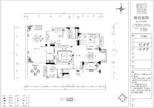 陆川120㎡中式风格装修效果图