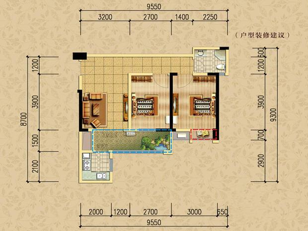 宝龙城市广场欧式风格装修效果图