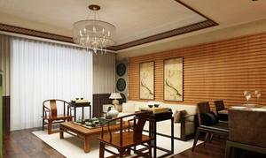 温岭142㎡中式风格装修效果图